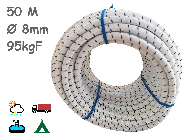 1-Cuerda elástica 50m blanca