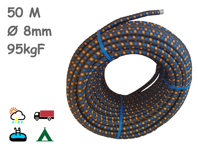1-Cuerda elástica 50m negra
